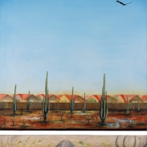 Roof tops, 2006, OIL ON CANVAS, 60 x 40 INCHES