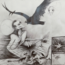 I do not know any more, 2012, GRAPHITE ON STONEHENDGE, 50 x 46 INCHES