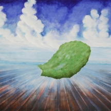 Nopal, 2010, OIL AND AEROSOL ON CANVAS, 80 x 60 INCHES