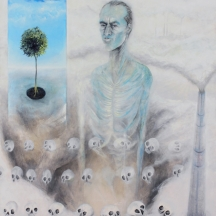 Hombre consumidor, 2009, OIL AND GRAPHITE ON CANVAS, 68 x 54 INCHES