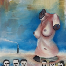 No somos de plástico, 2009, OIL ON CANVAS, 36 x 30 INCHES