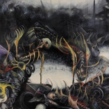 Effecto urbano, 1996, OIL AND GRAPHITE ON CANVAS, 96 x 70 INCHES